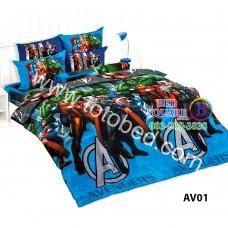 ชุดเครื่องนอนลายอเวนเจอร์ Avengers  TOTO ผ้าปูที่นอน ผ้านวม ลิขสิทธิ์แท้โตโต้ AV01