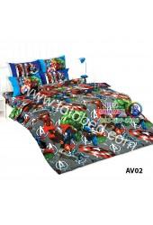 ชุดเครื่องนอนลายอเวนเจอร์ Avengers TOTO ผ้าปูที่นอน ผ้านวม ลิขสิทธิ์แท้โตโต้ AV02