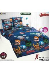 ชุดเครื่องนอนลายอเวนเจอร์ Avengers TOTO ผ้าปูที่นอน ผ้านวม ลิขสิทธิ์แท้โตโต้ AV05