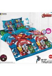 ชุดเครื่องนอนลายอเวนเจอร์ Avengers TOTO ผ้าปูที่นอน ผ้านวม ลิขสิทธิ์แท้โตโต้ AV07