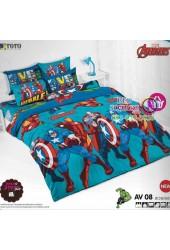 ชุดเครื่องนอนลายอเวนเจอร์ Avengers TOTO ผ้าปูที่นอน ผ้านวม ลิขสิทธิ์แท้โตโต้ AV08