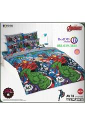 ชุดเครื่องนอนลายอเวนเจอร์ Avengers  TOTO ผ้าปูที่นอน ผ้านวม ลิขสิทธิ์แท้โตโต้ AV13