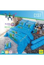 ชุดเครื่องนอนลายเบนเทน Ben 10 ลิขสิทธิ์แท้ Satin ผ้าปูที่นอน ผ้านวมซาติน C137