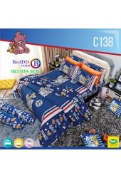 ชุดเครื่องนอนลายทอมกับเจอร์รี่ Tom and Jerry ลิขสิทธิ์แท้ Satin ผ้าปูที่นอน ผ้านวมซาติน C138