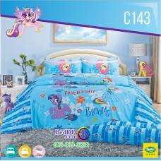 ชุดเครื่องนอนลายมายลิตเติ้ลโพนี่ My Little Pony ลิขสิทธิ์แท้ Satin ผ้าปูที่นอน ผ้านวมซาติน C143