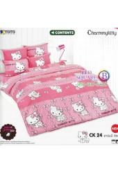 ชุดเครื่องนอนชาร์มมี่ คิตตี้ สีชมพู Charmmy Kitty TOTO ผ้าปูที่นอน ผ้านวม ลิขสิทธิ์แท้โตโต้ CK24