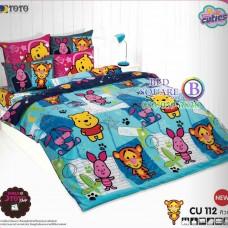 ชุดเครื่องนอนคิวตี้หมีพูห์ Disney Cuties Pooh Bear TOTO ผ้าปูที่นอน ผ้านวม ลิขสิทธิ์แท้โตโต้ CU112