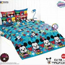 ชุดเครื่องนอนคิวตี้หมีพูห์ Disney Cuties Pooh Bear TOTO ผ้าปูที่นอน ผ้านวม ลิขสิทธิ์แท้โตโต้ CU118