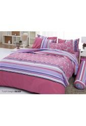 ชุดเครื่องนอนพิมพ์ลายดอก สีชมพู Tulip Delight ผ้าปูที่นอน ผ้านวมทิวลิป ดีไลท์ DL023