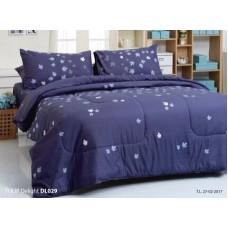 ชุดเครื่องนอนพิมพ์ลายสีม่วง Tulip Delight ผ้าปูที่นอน ผ้านวมทิวลิป ดีไลท์ DL029
