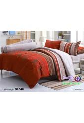 ชุดเครื่องนอนพิมพ์ลาย น้ำตาล เทา Tulip Delight ผ้าปูที่นอน ผ้านวมทิวลิป ดีไลท์ DL048
