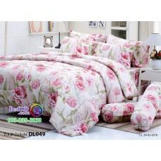 ชุดเครื่องนอนพิมพ์ลายดอกชมพู Tulip Delight ผ้าปูที่นอน ผ้านวมทิวลิป ดีไลท์ DL049