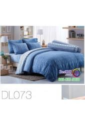 ชุดเครื่องนอนพิมพ์ลาย พื้นสีฟ้า Tulip Delight ผ้าปูที่นอน ผ้านวมทิวลิป ดีไลท์ DL073