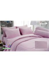 ชุดเครื่องนอนพิมพ์ลาย พื้นสีชมพู Tulip Delight ผ้าปูที่นอน ผ้านวมทิวลิป ดีไลท์ DL536