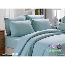 ชุดเครื่องนอนพิมพ์ลาย พื้้นสีเขียว Tulip Delight ผ้าปูที่นอน ผ้านวมทิวลิป ดีไลท์ DL540