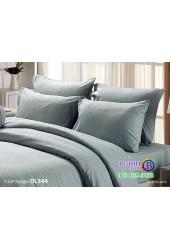 ชุดเครื่องนอนพิมพ์ลาย พื้นสีเขียว Tulip Delight ผ้าปูที่นอน ผ้านวมทิวลิป ดีไลท์ DL544