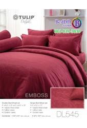 ชุดเครื่องนอนพิมพ์ลาย พื้นสีแดง Tulip Delight ผ้าปูที่นอน ผ้านวมทิวลิป ดีไลท์ DL545