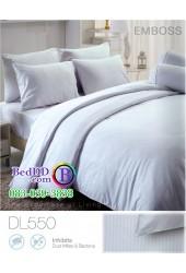 ชุดเครื่องนอนพิมพ์ลาย พื้นสีขาว Tulip Delight ผ้าปูที่นอน ผ้านวมทิวลิป ดีไลท์ DL550