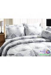 ชุดเครื่องนอนพิมพ์ลาย สีเขียวอ่อน Tulip Delight ผ้าปูที่นอน ผ้านวมทิวลิป ดีไลท์ DL806