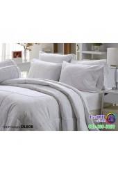 ชุดเครื่องนอนพิมพ์ลาย พื้นสีเขียว Tulip Delight ผ้าปูที่นอน ผ้านวมทิวลิป ดีไลท์ DL808