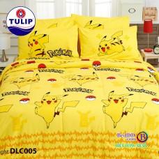 ชุดเครื่องนอนลาย Pokemon โปเกม่อน ผ้าปูที่นอน ผ้านวมทิวลิป DLC005