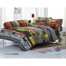 ชุดเครื่องนอนลาย Mcqueen Cars แมคควีน คาร์ ผ้าปูที่นอน ผ้านวมทิวลิป DLC027