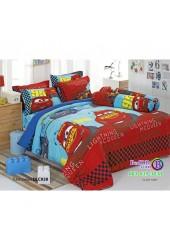 ชุดเครื่องนอนลาย Mcqueen Cars แมคควีน คาร์ ผ้าปูที่นอน ผ้านวมทิวลิป DLC028