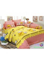 ชุดเครื่องนอนลาย เป็ด คาโมะ ผ้าปูที่นอน ผ้านวมทิวลิป DLC032