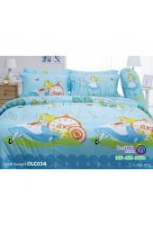 ชุดเครื่องนอนลาย Alice อลิซ ในแดนมหัศจรรย์ ผ้าปูที่นอน ผ้านวมทิวลิป DLC034