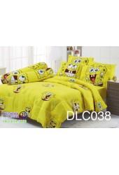 ชุดเครื่องนอนลาย SpongeBob สปอนจ์บ๊อบ ผ้าปูที่นอน ผ้านวมทิวลิป DLC038