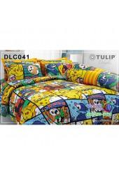 ชุดเครื่องนอนลาย Pokemon โปเกม่อน ผ้าปูที่นอน ผ้านวมทิวลิป DLC041