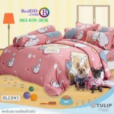 ชุดเครื่องนอนลาย หมาจ๋า ผ้าปูที่นอน ผ้านวมทิวลิป DLC043