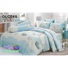ชุดเครื่องนอนลาย หมาจ๋า ผ้าปูที่นอน ผ้านวมทิวลิป DLC045