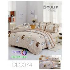 ชุดเครื่องนอนลาย หมาจ๋า ผ้าปูที่นอน ผ้านวมทิวลิป DLC074