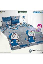 ชุดเครื่องนอนโดราเอมอน Doraemon TOTO ผ้าปูที่นอน ผ้านวม ลิขสิทธิ์แท้โตโต้ DM105