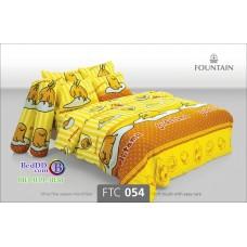 ชุดเครื่องนอนลายไข่ขี้เกียจ Gudetama สีเหลือง Fountain ผ้าปูที่นอน ผ้านวมฟาวเท่น FTC054