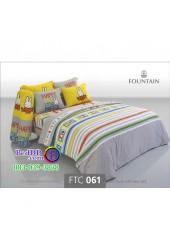 ชุดเครื่องนอนลายมิฟฟี่ Miffy สีเทา Fountain ผ้าปูที่นอน ผ้านวมฟาวเท่น FTC061