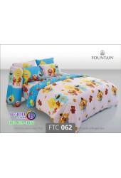 ชุดเครื่องนอนลายเซซามี Sesame Street สตรีท สีชมพู Fountain ผ้าปูที่นอน ผ้านวมฟาวเท่น FTC062