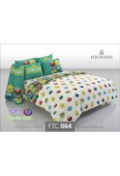 ชุดเครื่องนอนลายเซซามี Sesame Street สตรีท สีขาว Fountain ผ้าปูที่นอน ผ้านวมฟาวเท่น FTC064