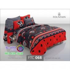 ชุดเครื่องนอนลายคุมะมง Kumamon สีเทา Fountain ผ้าปูที่นอน ผ้านวมฟาวเท่น FTC068