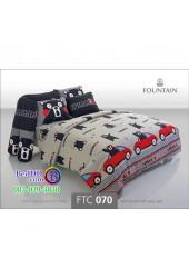 ชุดเครื่องนอนลายคุมะมง Kumamon สีเทา Fountain ผ้าปูที่นอน ผ้านวมฟาวเท่น FTC070