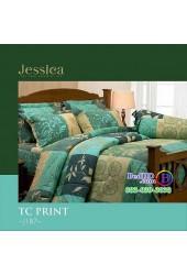 ชุดเครื่องนอนลายกราฟฟิค เขียว เหลือง Jessica ผ้าปูที่นอน ผ้านวมเจสสิก้า J187