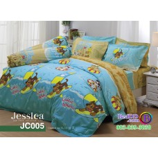 ชุดเครื่องนอนลายขบวนการเจ้าตูบสี่ขา Paw Patrol สีฟ้า Jessica ผ้าปูที่นอน ผ้านวมเจสสิก้า JC005