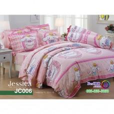 ชุดเครื่องนอนลายซินามอโรล Cinnamoroll สีชมพู Jessica ผ้าปูที่นอน ผ้านวมเจสสิก้า JC006