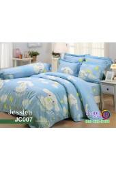 ชุดเครื่องนอนลายซินามอโรล Cinnamoroll สีฟ้า Jessica ผ้าปูที่นอน ผ้านวมเจสสิก้า JC007