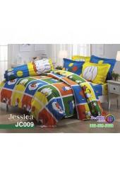 ชุดเครื่องนอนลายมิฟฟี่ Miffy สีเหลือง น้ำเงิน Jessica ผ้าปูที่นอน ผ้านวมเจสสิก้า JC009
