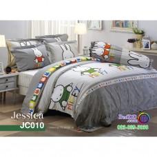 ชุดเครื่องนอนลายมิฟฟี่ Miffy สีเทา Jessica ผ้าปูที่นอน ผ้านวมเจสสิก้า JC010