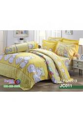 ชุดเครื่องนอนลายม็อบปุ Marumofubiyori สีเหลือง Jessica ผ้าปูที่นอน ผ้านวมเจสสิก้า JC011