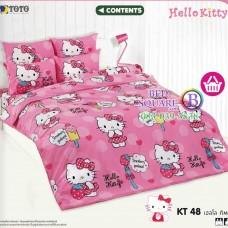 ชุดเครื่องนอนเฮลโล คิตตี้ Hello Kitty TOTO ผ้าปูที่นอน ผ้านวม ลิขสิทธิ์แท้โตโต้ KT48