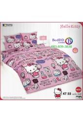 ชุดเครื่องนอนเฮลโล คิตตี้ Hello Kitty TOTO ผ้าปูที่นอน ผ้านวม ลิขสิทธิ์แท้โตโต้ KT55
